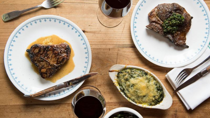 Chef Marjorie Meek-Bradley will build on the successes of the New York St. Anselm's steak-house fare (pictured here) for the D.C. location.