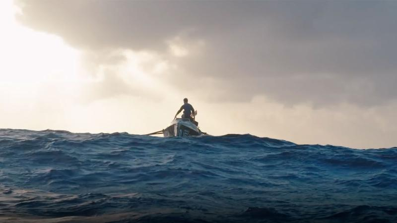 Image for an article: Yo ho ho and a Sauvignon Blanc! Pictured: the 2017 Talisker Whisky Atlantic Challenge; winemaker Isaac Giesen has just begun this year's race.