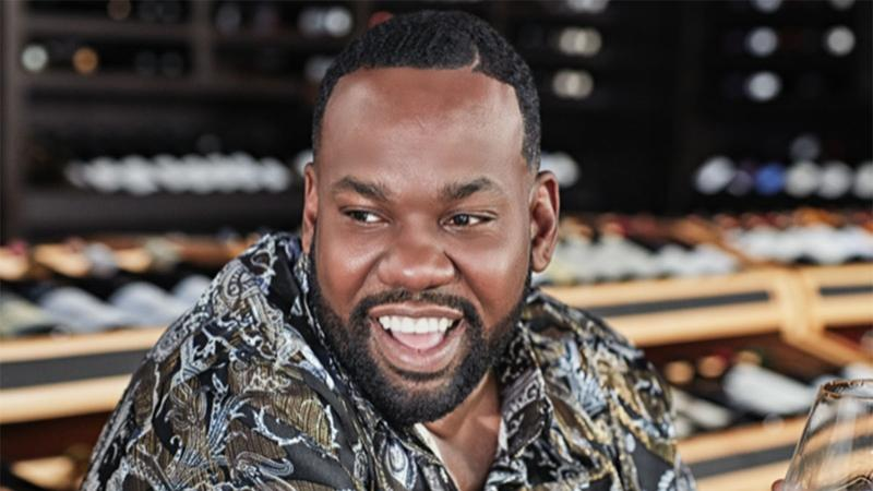 Image for an article: Once upon a time in Emilia-Romagna .... Raekwon, pictured at his local wine shop.