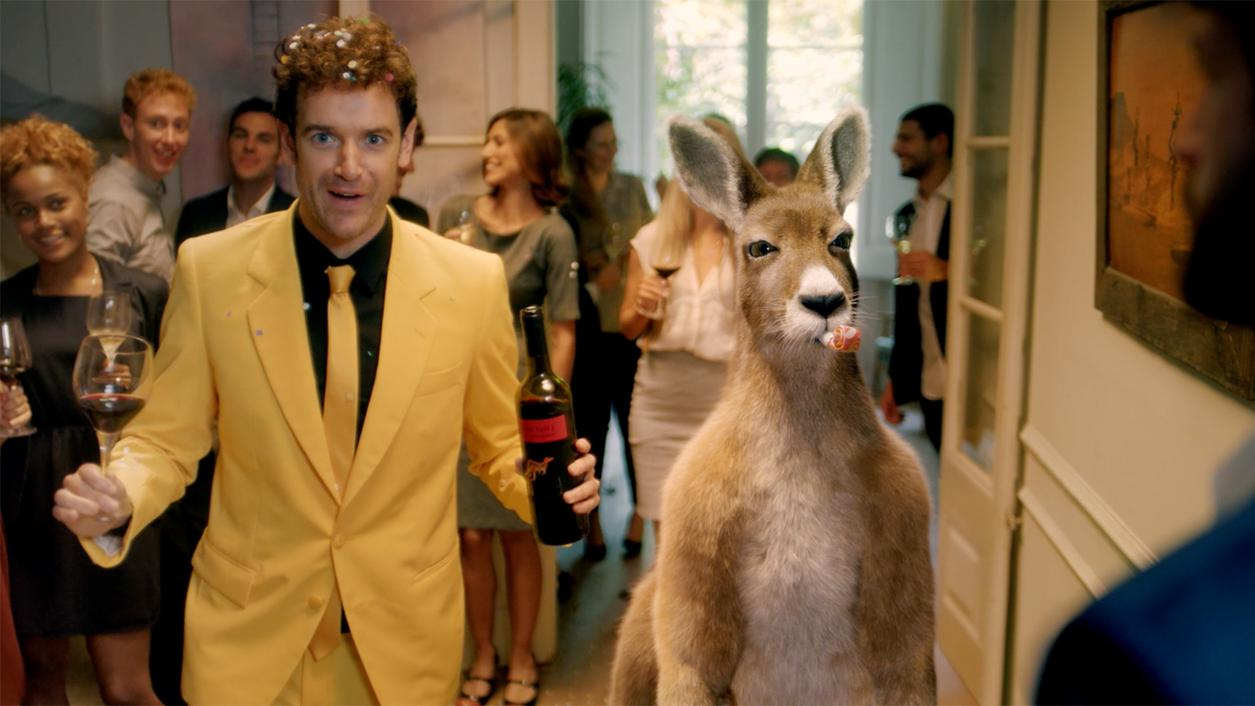 Yellow Tail Party Roo Gets a Marsupial Makeover for Super Bowl Return Trip