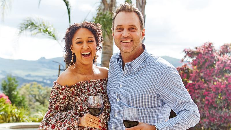 22d6a2a732e Wine   Design  Tamera Mowry-Housley and Adam Housley at Home