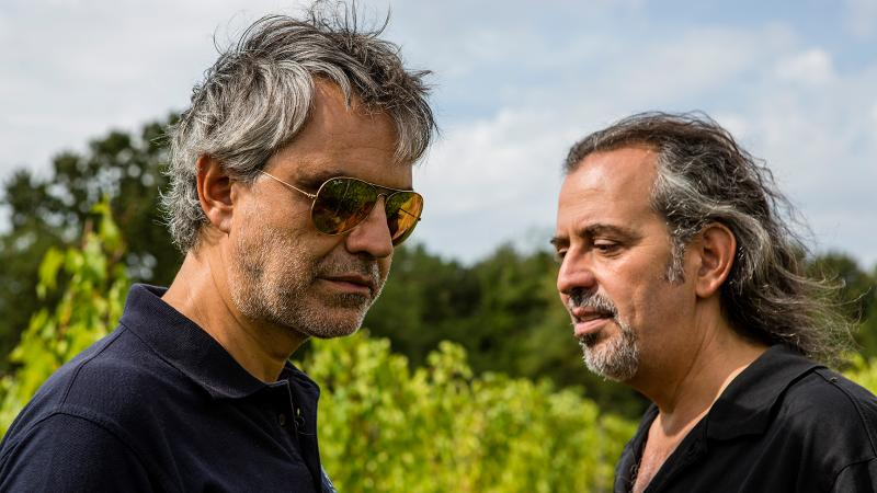 Andrea (left) and Alberto Bocelli grew up as close companions, learning the family's trade of winemaking and farming.