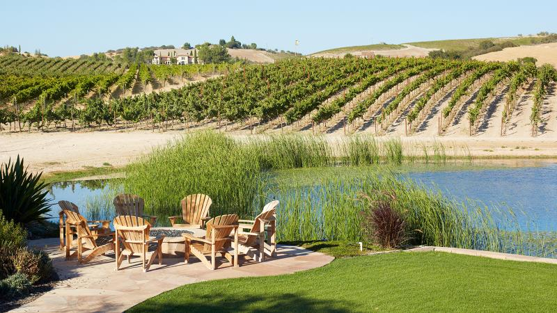 During the Paso Robles Wine Festival, local wineries like Terry Hoage Vineyards, pictured here, welcome visitors to try their wines.