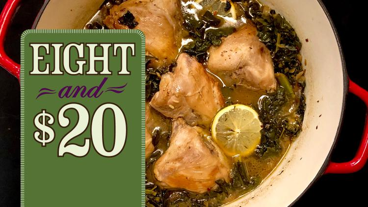 Recipe: Chicken with Pan Sauce, Lemon and Kale