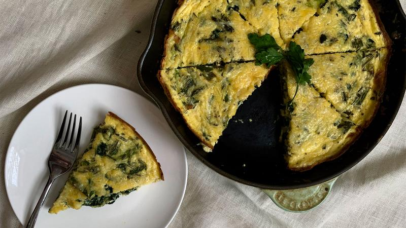 8 & $20: Spring Vegetable Frittata