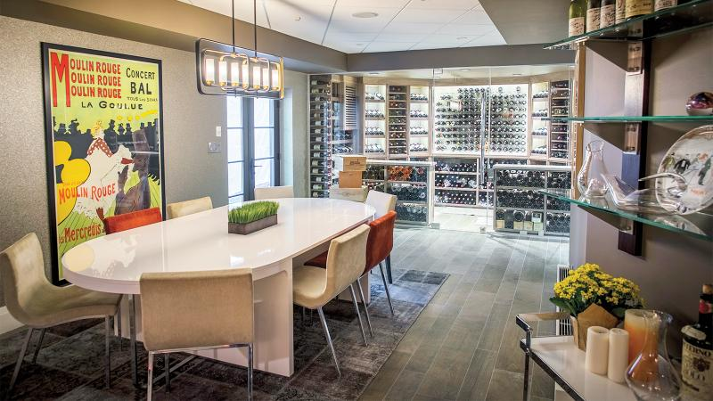 Christine Bae's home cellar in New Jersey houses almost 1,500 bottles.