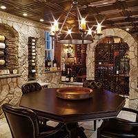 Mark DiPippa's 750-bottle cellar was based on his vision of an Old World–style bistro and wineshop.