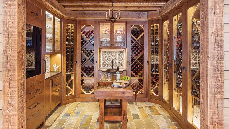 Tom and Barb Votel's 750-bottle cellar was designed by TreHus, a Minneapolis-based architecture firm.