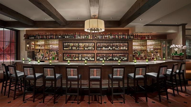 Panorama's custom wine-dispensing system serves 120 selections by the glass.