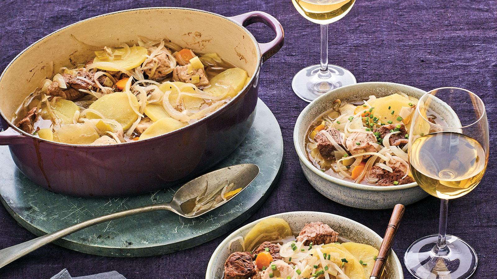 Perfect Match: Meat, Leek and Potato Casserole