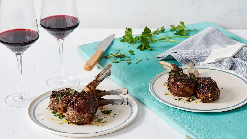 Perfect Match Recipe: Garlic-Rosemary Grilled Lamb Chops