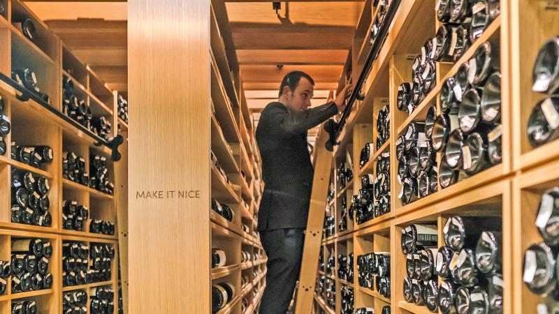 Cedric Nicaise oversees Eleven Madison Park's Grand Award–winning wine program, which boasts 22,000 bottles housed in a newly renovated cellar.