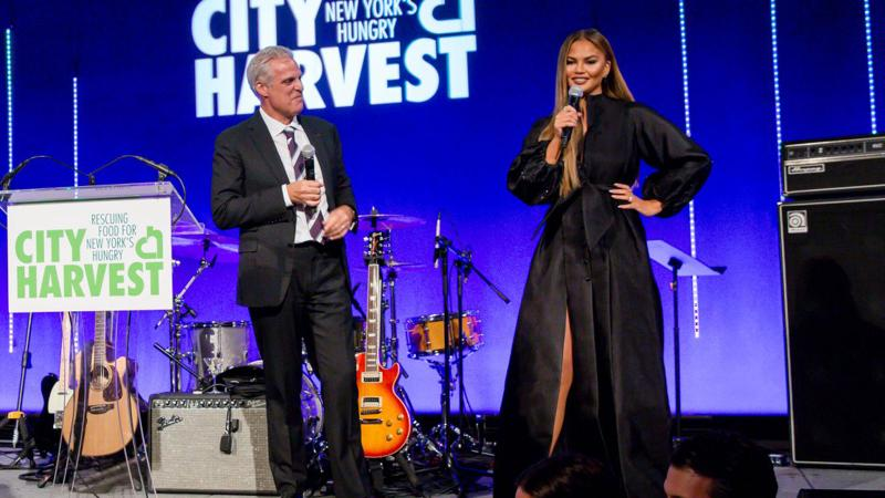 "Image for an article: ""What's the hashtag again?"" Eric Ripert and Chrissy Teigen MC'ed parts of the evening."