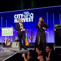 """Image for an article: """"What's the hashtag again?"""" Eric Ripert and Chrissy Teigen MC'ed parts of the evening."""