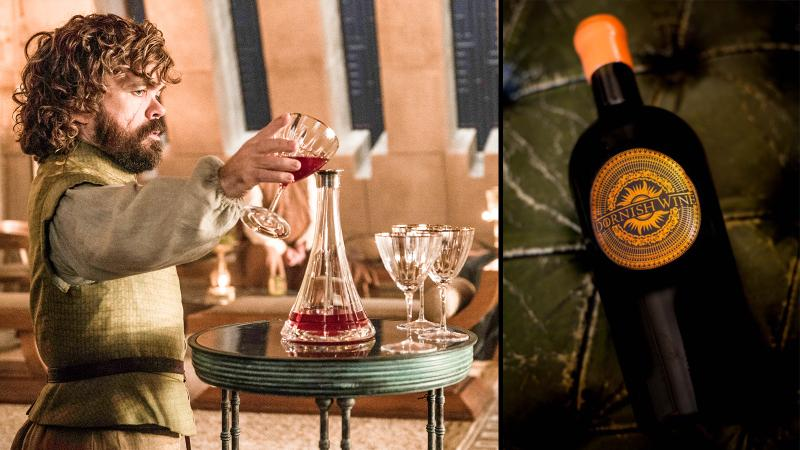 Image for an article: For the wine is dark, and full of tannins. Tyrion Lannister (left) and the St.-Emilion Dornish cuvée