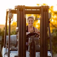 Image for an article: Alecia Moore is often on the road touring as P!nk, but she always makes sure to be home in her vineyard for harvest.
