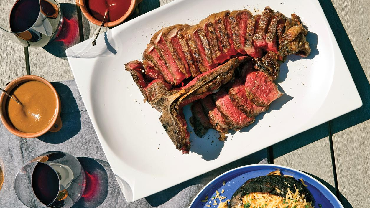Dining Tip: Slow-Grilled Porterhouse Steak with Syrah