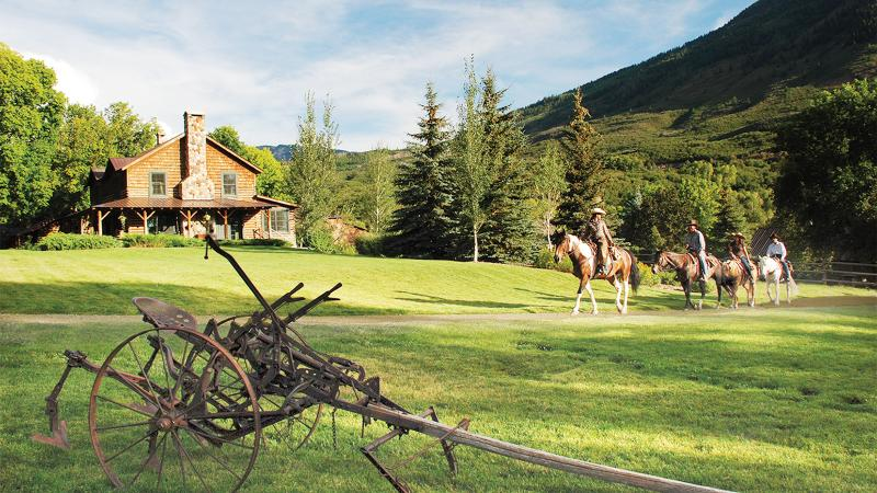 Colorado's Smith Fork Ranch offers views of the Rocky Mountains and a <em>Wine Spectator</em> Best of Award of Excellence-winning restaurant.