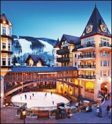 Arrabelle at Vail Square, whose adjacent Eagle Bahn gondola offers easy access to the top of the mountain.