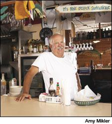 Owner Ross Matheson at Captain Charlie's Reef Grill.