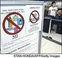 Piles of everything from cosmetics to wine are forming at several airport security checkpoints.
