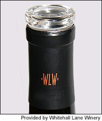 Whitehall Lane is the first producer to try the new design of Alcoa's glass stopper instead of cork.