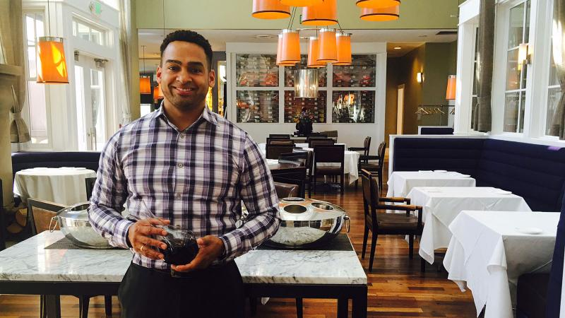 Zion Curiel has taken over the wine program at Farm at the Carneros Inn in Napa.