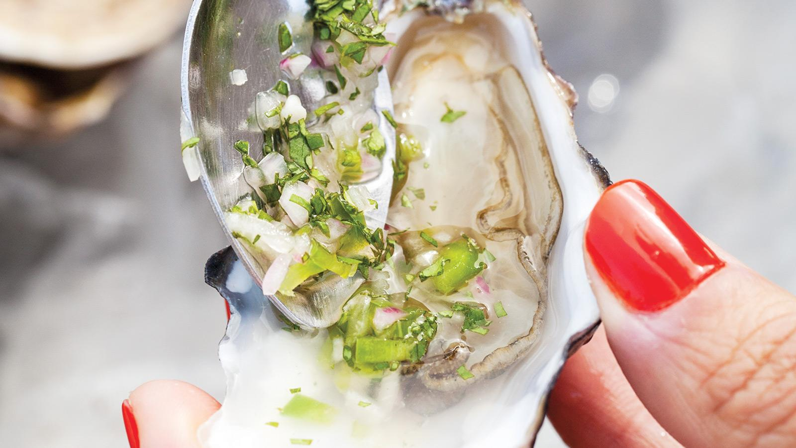 Raw Oysters With