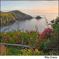 Mendocino is located about 120 miles north of San Francisco.