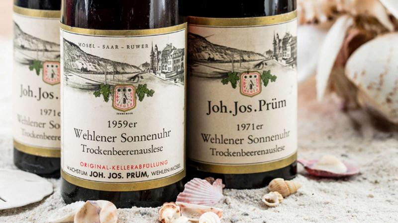 Older vintages of Joh. Jos. Prüm Rieslings are among the thousands of pristine wines in Rudi Wiest's collection.
