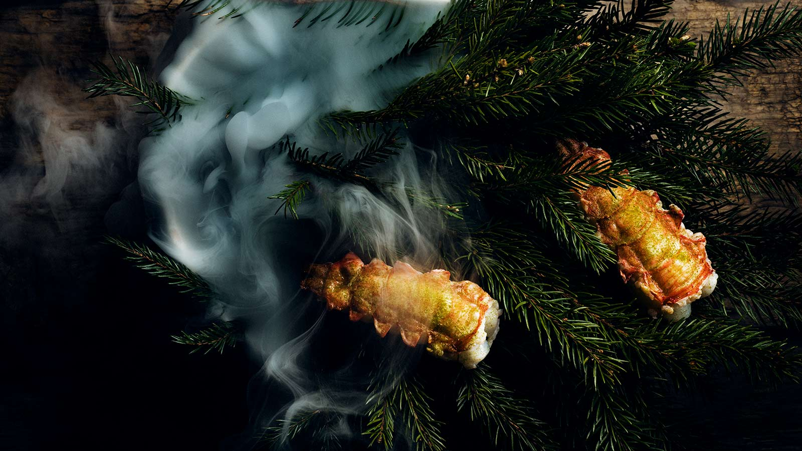 Langoustine and spruce