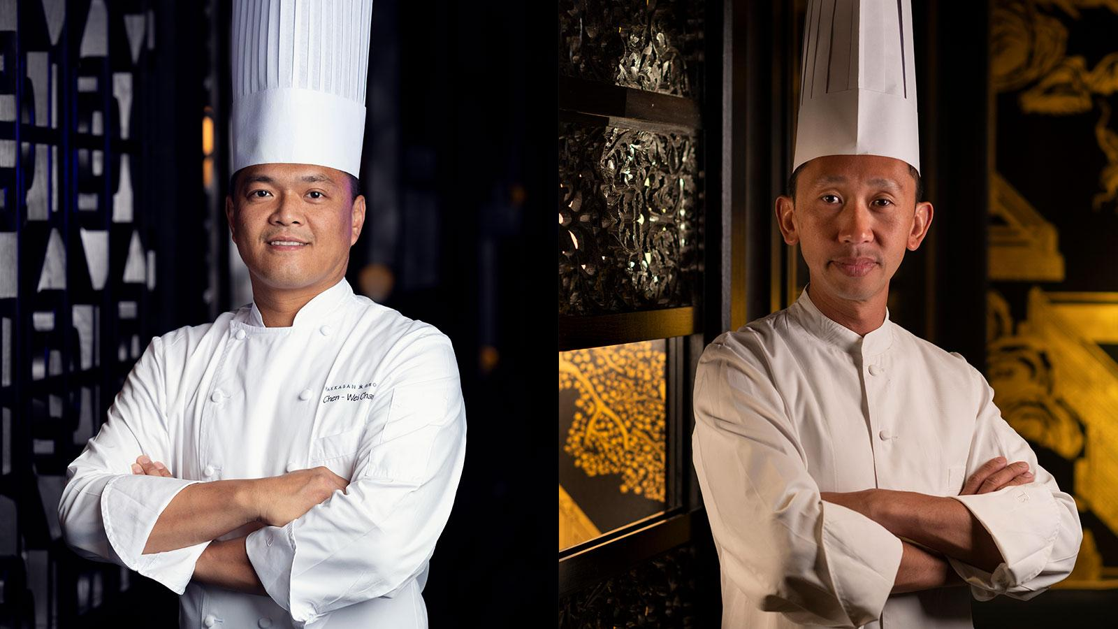 Chefs Chen-Wei Chan (left) and Andrew Yeo