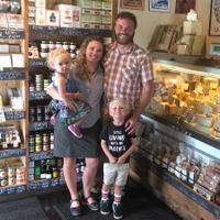 The Cheese Shop is a family business for C.J. and Kari Bienert, with their son, Solomon Oak, and daughter, Coral Blue.