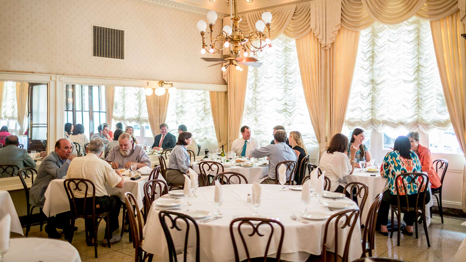 The dining room at Antoine's Restaurant
