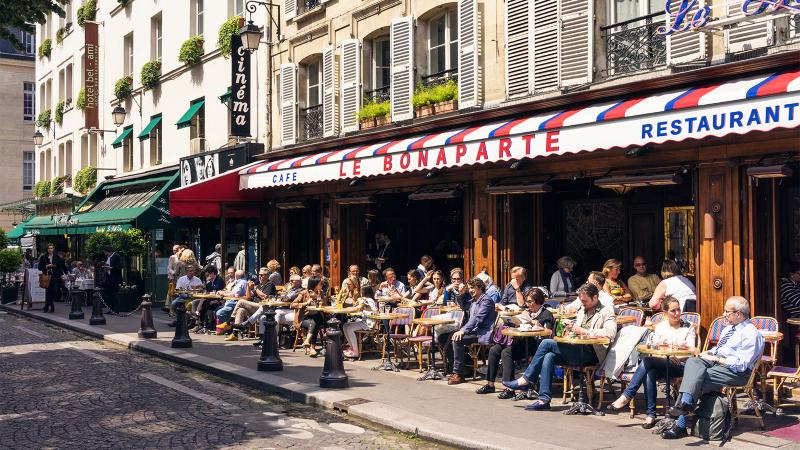 Sitting and sipping <i>en terrasse</i> is a French sport.