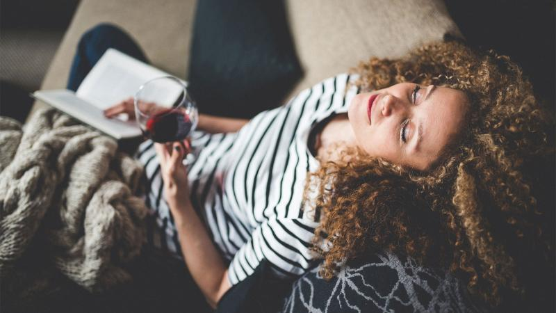 A glass of red at the end of the day can relax you. But it might not just be the alcohol at work.