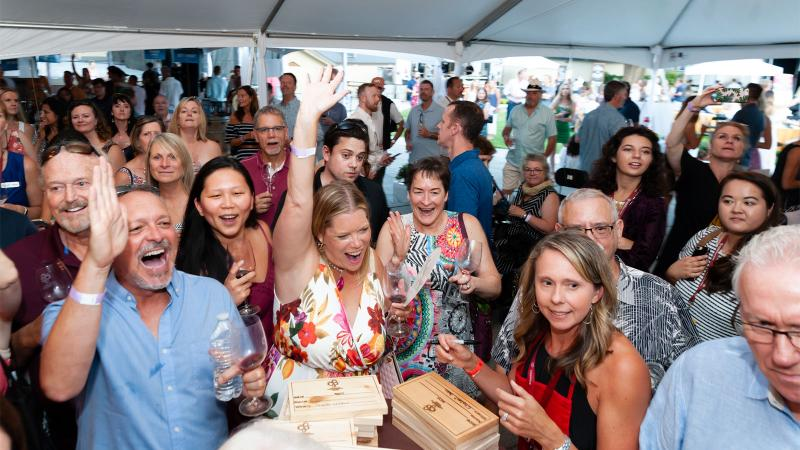 The crowd was lively at the Winemaker Picnic, where guests could sample offerings from famed chefs and 60 of the state's top winemakers