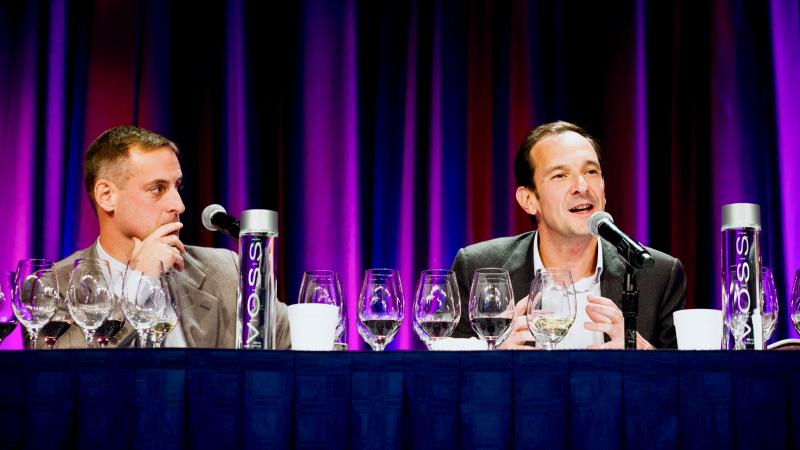 Marc Perrin, right, will return to the Wine Experience this October to discuss the wines of his family estate, Château de Beaucastel.