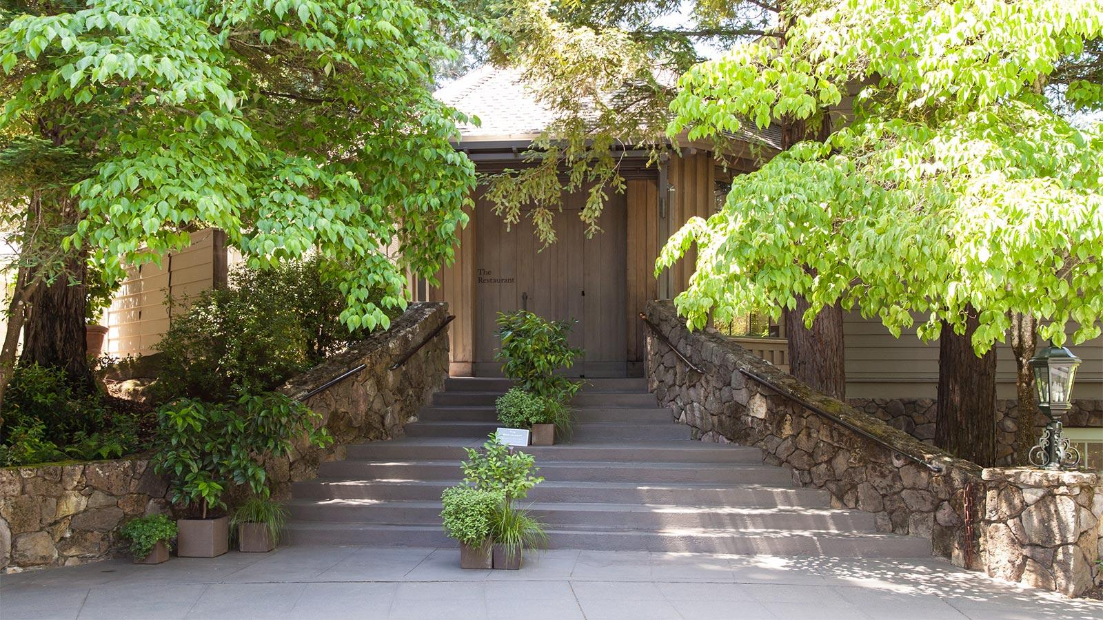 Entrance to the Restaurant at Meadowood