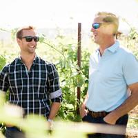 Drew Bledsoe (right) and winemaker Josh McDaniels are adding to their roster of Pacific Northwest wines.