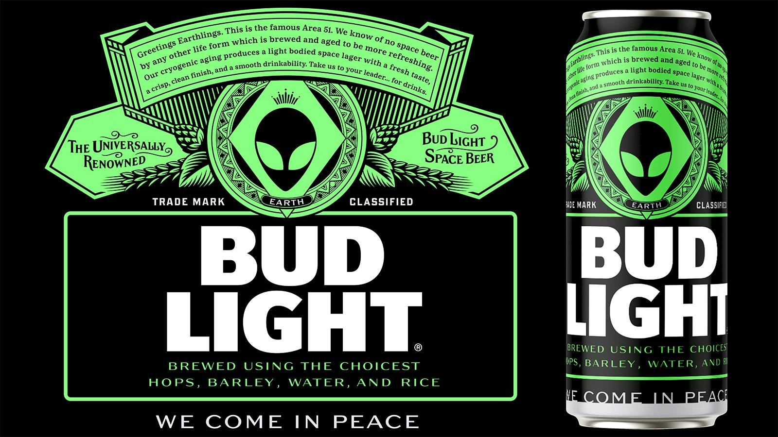 Bud Light Area 51 beer