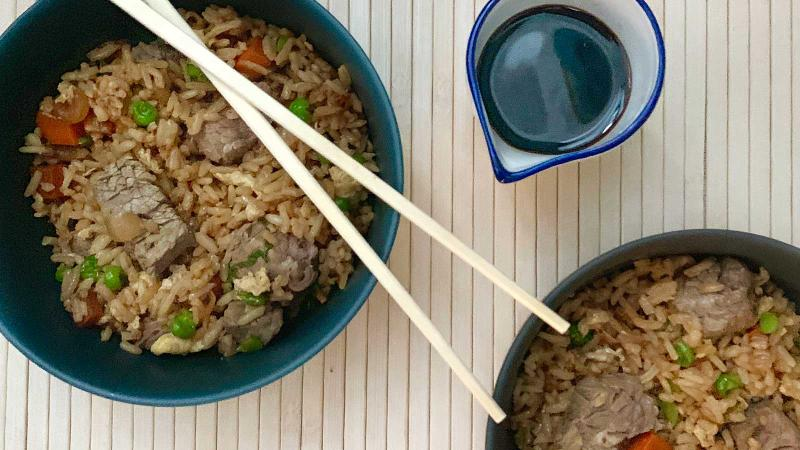 8 & $20: Beef Fried Rice