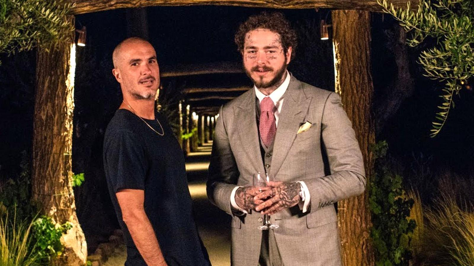 Post Malone (right) samples France with Zane Lowe.