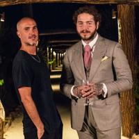 Stemwares & Citroëns: Post Malone (right) samples France with Zane Lowe.