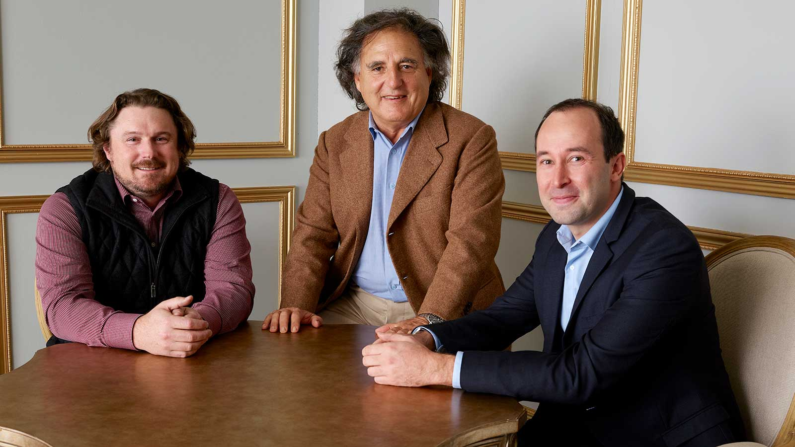 From left: Winemakers Morgan Twain-Peterson, Marco di Grazia and François Michel