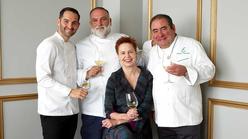 From left: Mario Carbone, José Andrés, Ti Martin and Emeril Lagasse