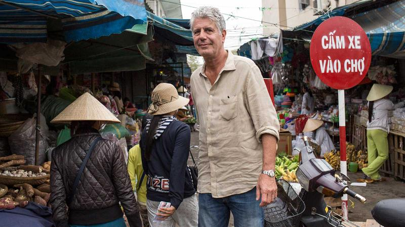 Anthony Bourdain filming Parts Unknown in Vietnam in 2014