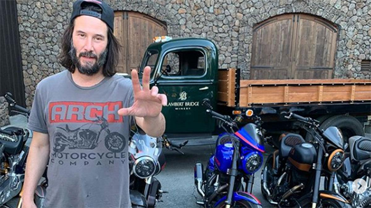 Keanu Reeves at Lambert Bridge