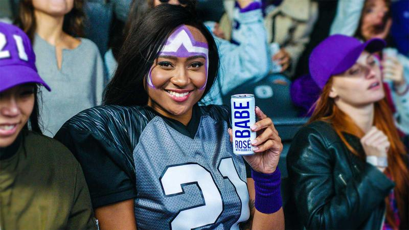 Actually, the Official Wine of the NFL Is a Bubbly Rosé Called Babe
