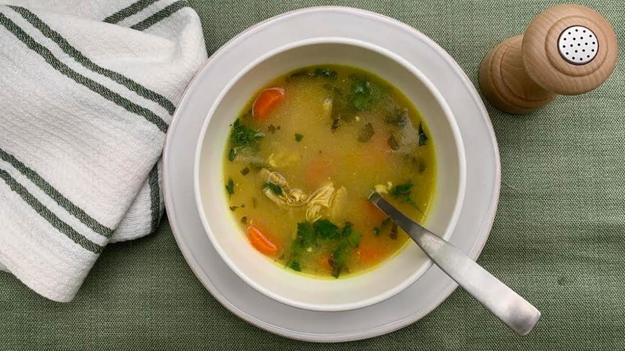 8 & $20: Weeknight Chicken Soup with Ginger, Turmeric and Lemon